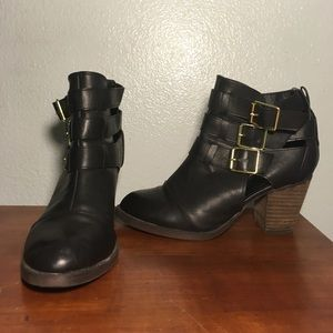 Black Mossimo Ankle Boots with Heel
